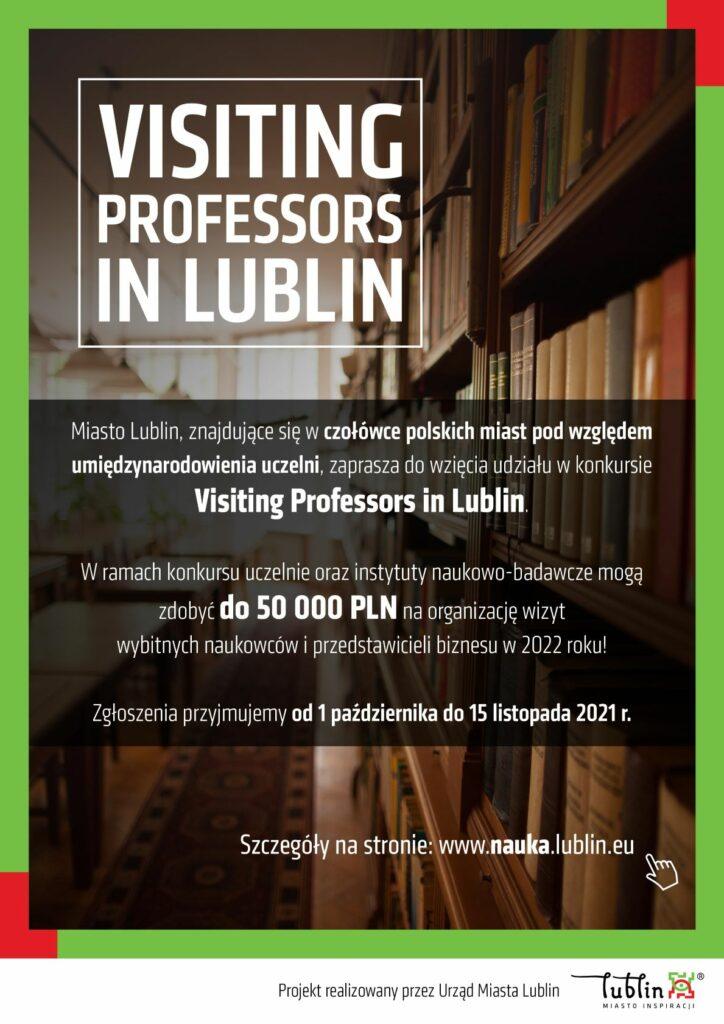 Plakat promujący program Visiting Professors in Lublin